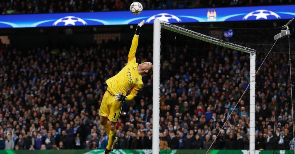Joe Hart faz grande intervenção para evitar gol do Real Madrid contra o Manchester City pela Liga dos Campeões