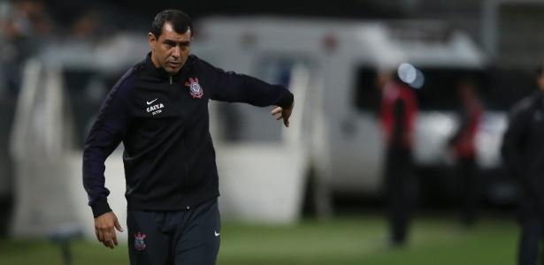 Fábio Carille durante jogo do Corinthians contra o Atlético-MG