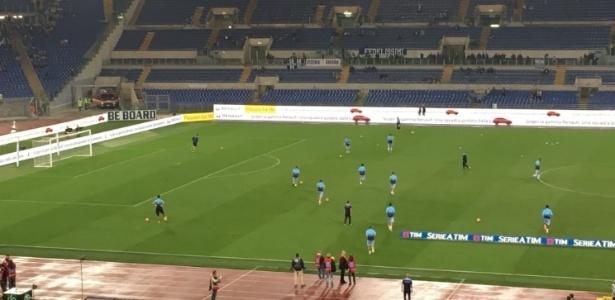 Estádio Olímpico antes de partida da Lazio, pelo Italiano