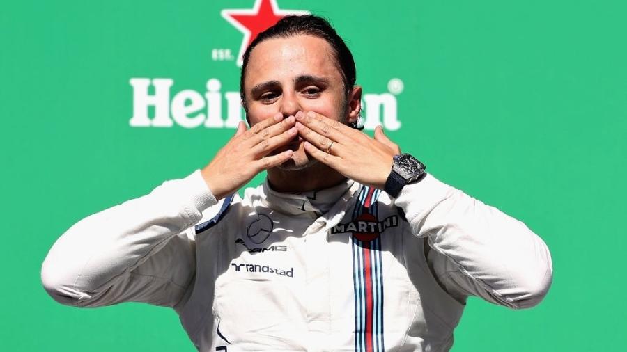 Felipe Massa no pódio do GP do Brasil de 2017 - Mark Thompson/Getty Images