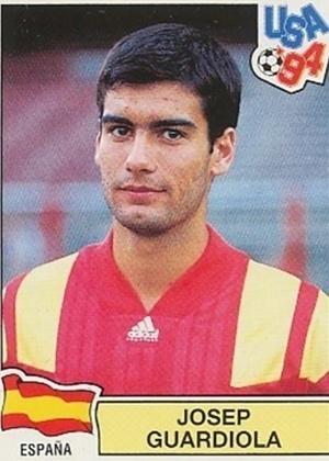 PEP GUARDIOLA era volante do Barcelona e jogou a Copa de 1994 pela Espanha