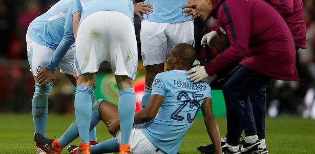 Fernandinho sofreu um estiramento na parte posterior da coxa esquerda
