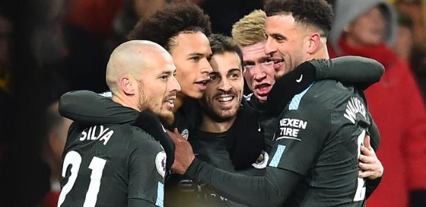 Fora de casa, Manchester City abriu 3 a 0 diante do Arsenal já no primeiro tempo