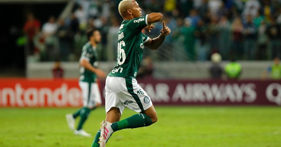 cecb97fd6 Deyverson comemora seu gol pelo Palmeiras em partida contra o Junior  Barranquilla pela Libertadores 2019