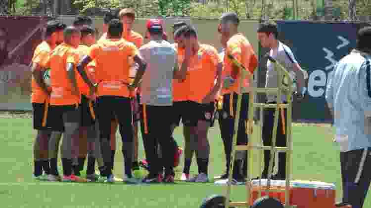 Primeiro time do Inter montado por Zé Ricardo em treinamento no CT do clube - Marinho Saldanha/UOL - Marinho Saldanha/UOL