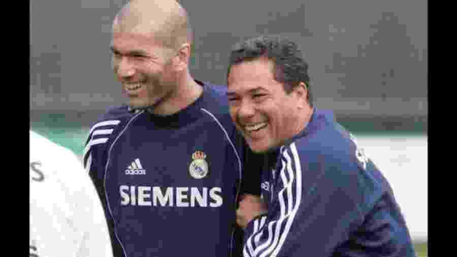 Vanderlei Luxemburgo e Zinédine Zidane trabalharam juntos no Real Madrid - Reprodução