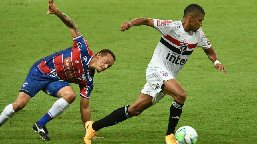 São Paulo enfrentará o Fortaleza no domingo (25) e jogará contra o Lanús na quarta-feira (28) - Kely Pereira/AGIF