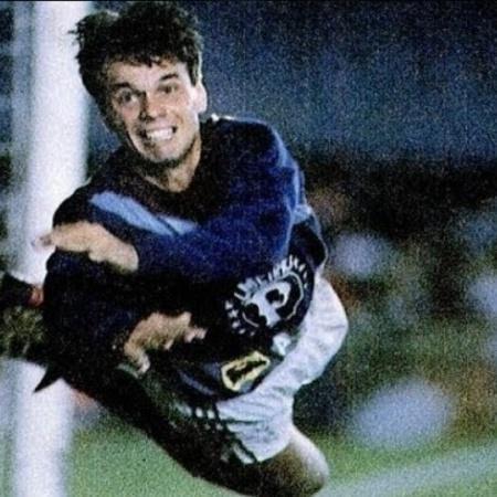 Gaúcho como goleiro na partida entre Flamengo x Palmeiras - Reprodução/SEPalmeiras