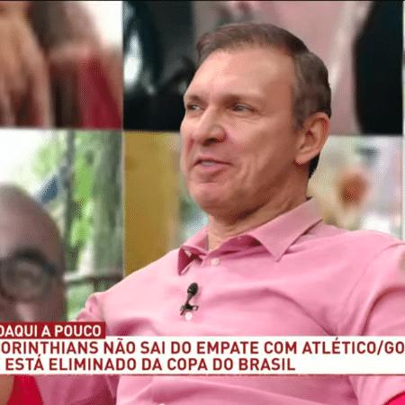 Velloso, comentarista do Os Donos da Bola, da TV Band - Reprodução/TV Band