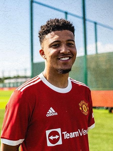 Jadon Sancho é anunciado pelo Manchester United - Divulgação/Manchester United