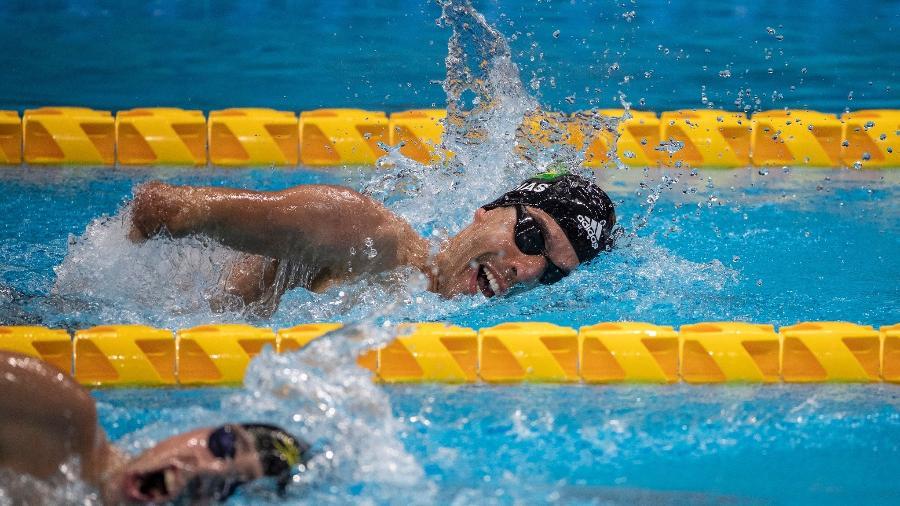 Daniel Dias durante classificatória da natação nas Paralimpíadas de Tóquio - Ale Cabral/CPB