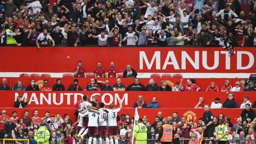 Aston Villa vence o Manchester United em jogo válido pelo Campeonato Inglês - GettyImages