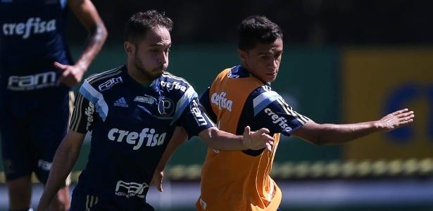 Régis e Erik tiveram poucas chances no Palmeiras nos 23 jogos do time até aqui