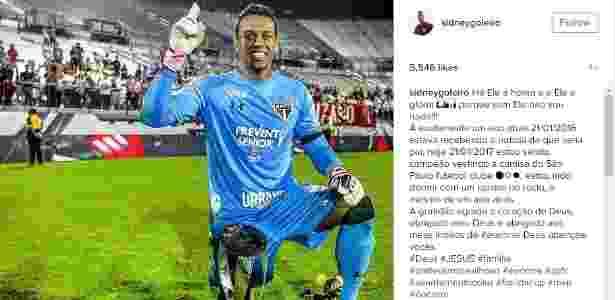Goleiro do São Paulo, Sidão comemora título na Florida Cup - Reprodução - Reprodução