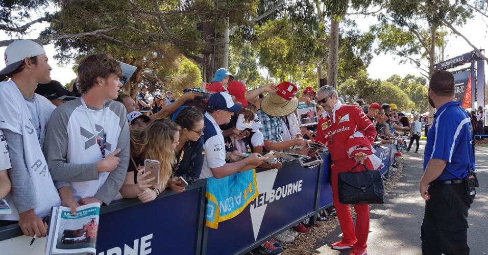 Ambiente da F-1 no circuito de Albert Park, em Melbourne