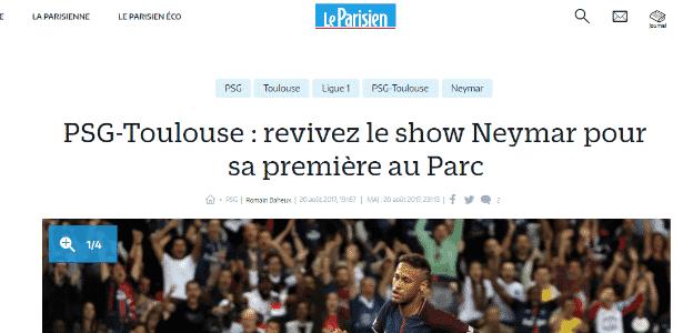 Neymar no Le Parisien - Reprodução - Reprodução