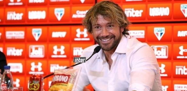 Lugano falou sobre a presença da torcida no treino antes do clássico com o Palmeiras