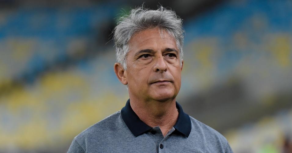Marcos Paquetá, técnico do Botafogo, durante a partida contra o Flamengo