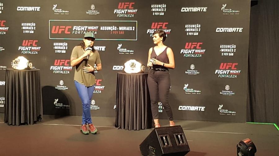 """""""Vamos ver se eles me ligam fechando essa luta, seria muito dura"""", disse a brasileira - Marcel Rizzo/UOL"""