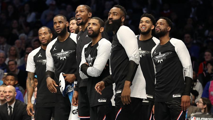 Liderado por Kevin Durant, time de LeBron James saiu vencedor do NBA All-Star Game   - Streeter Lecka/Getty Images/AFP