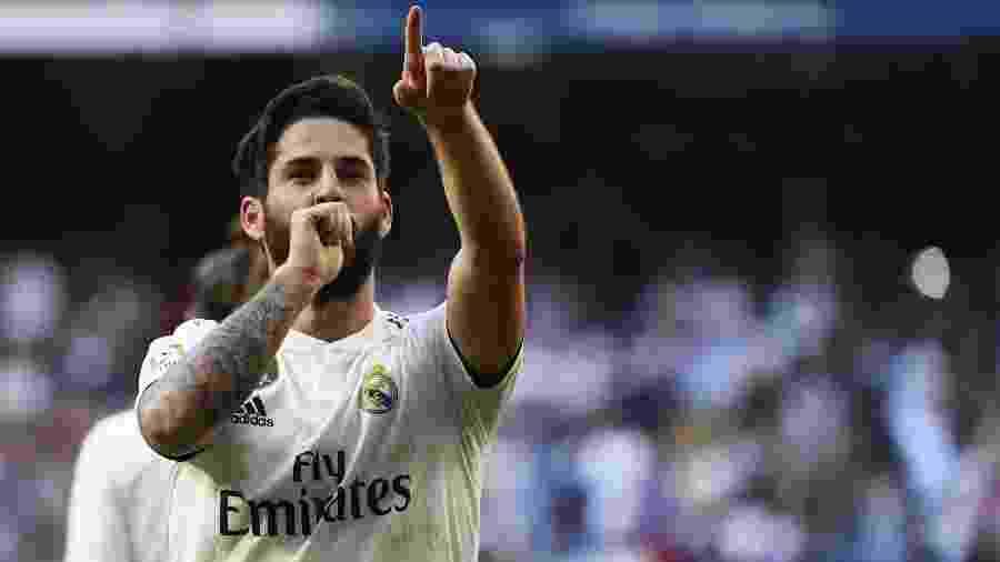 Isco comemora gol do Real diante do Celta - GABRIEL BOUYS/AFP