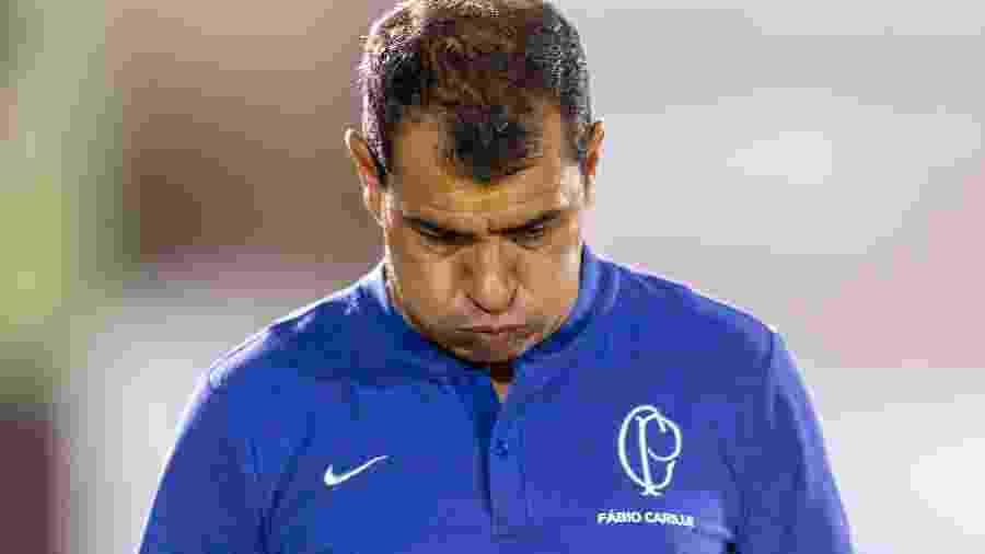 Fábio Carille mostra descontentamento durante jogo do Corinthians nesta temporada - MARCOS LIMONTI/CÓDIGO19/ESTADÃO CONTEÚDO
