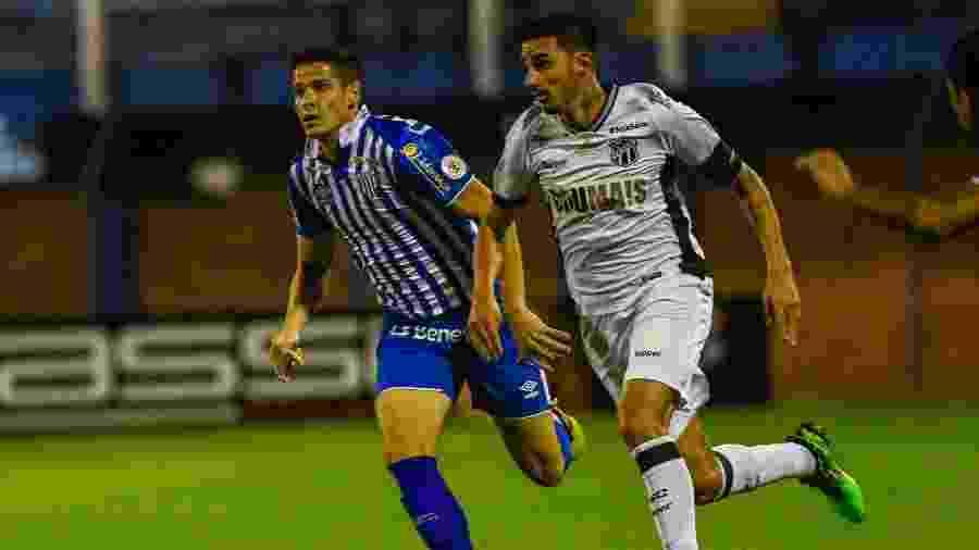 Thiago Galhardo fez dois gols no jogo do primeiro turno e comandou vitória do Ceará - ANTÔNIO CARLOS MAFALDA/MAFALDA PRESS/ESTADÃO CONTEÚDO