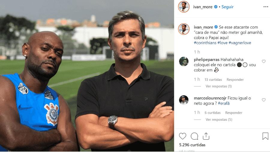 Ivan Moré posa ao lado de Vagner Love - Reprodução/Instagram