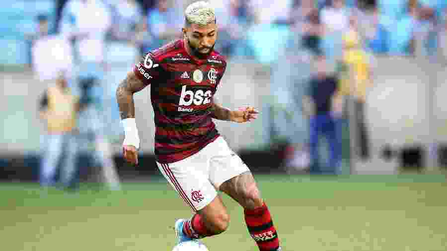 Gabriel, atacante do Flamengo, durante partida contra o Grêmio em Porto Alegre, pelo Campeonato Brasileiro - Pedro H. Tesch/AGIF