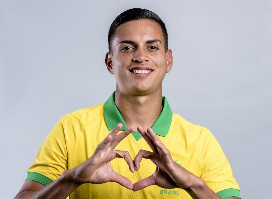 Renan, jogador do Palmeiras convocado para a seleção sub-17 para a disputa do Mundial