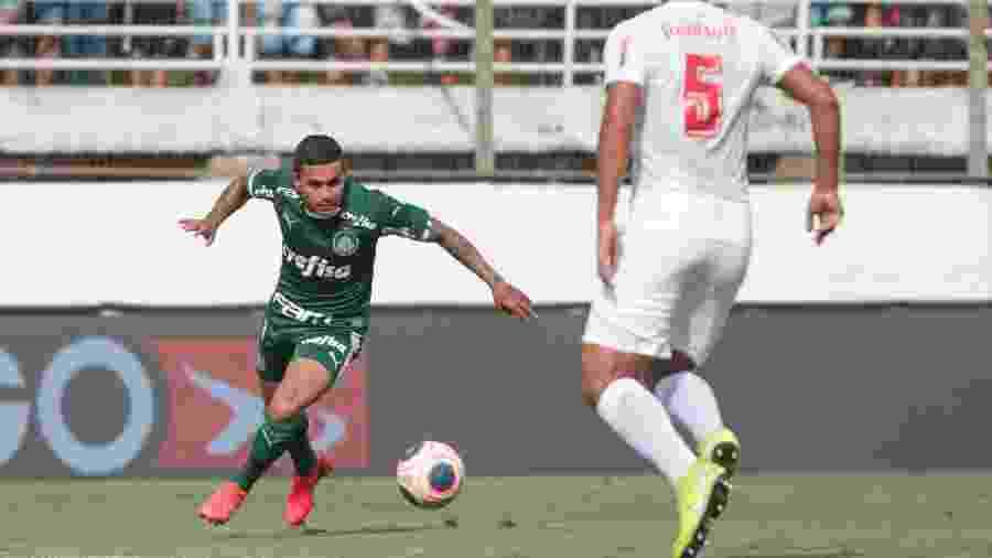 Dudu, do Palmeiras, durante partida contra o Red Bull Bragantino no Paulistão - Marcello Zambrana/Marcello Zambrana/AGIF
