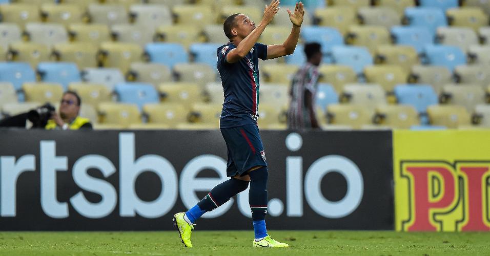 Wellington Silva comemora o gol do Fluminense contra Resende
