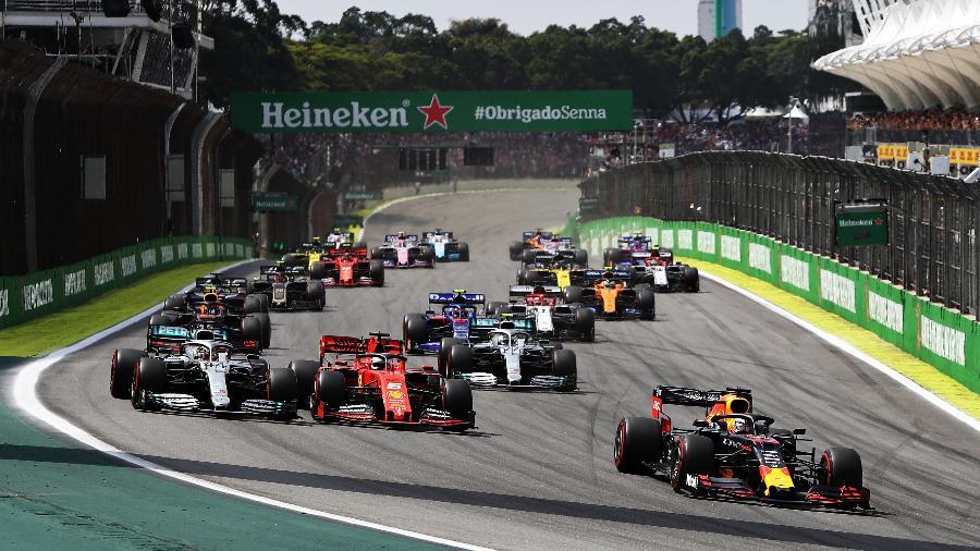Largada da última edição do GP Brasil, em novembro de 2019, no autódromo de Interlagos, em São Paulo - Mark Thompson/Getty Images