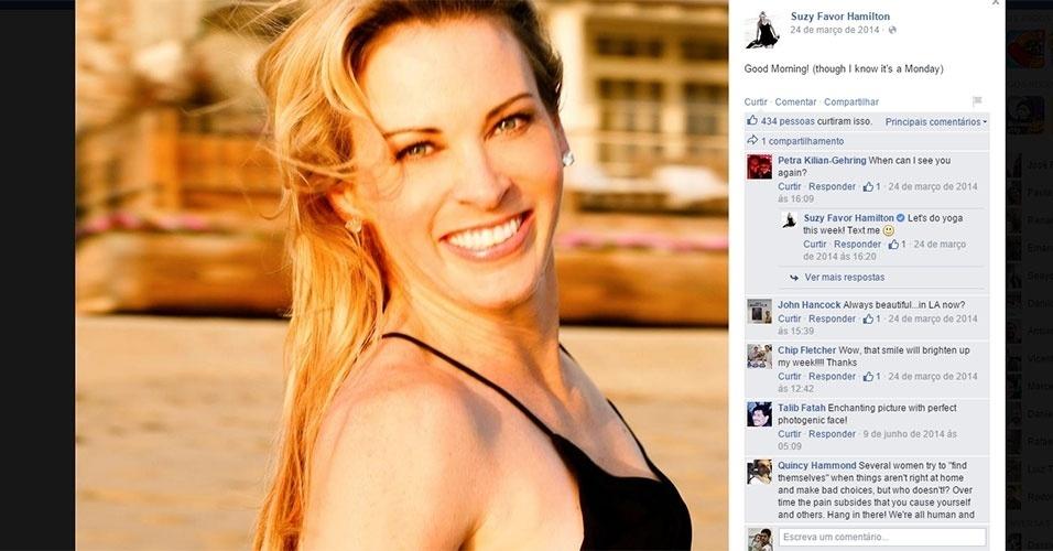 Suzy Favor Hamilton, que admitiu ter trabalhado como prostituta