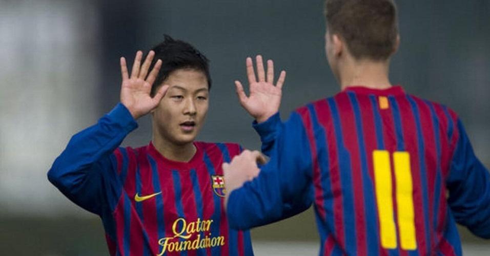Lee chegou ao Barça com 13 anos após se destacar no futebol coreano