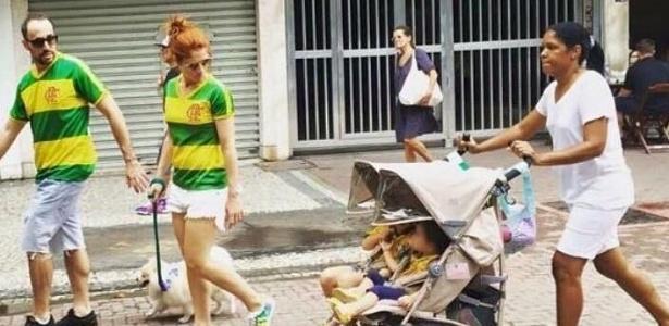 Vice do Flamengo foi a protesto contra Dilma com a babá de seus filhos