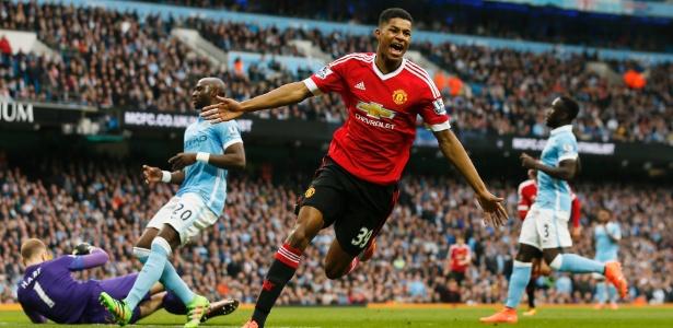 Rashford, 18 anos, balançou as redes e garantiu vitória do United sobre o City - Jason Cairnduff/Reuters