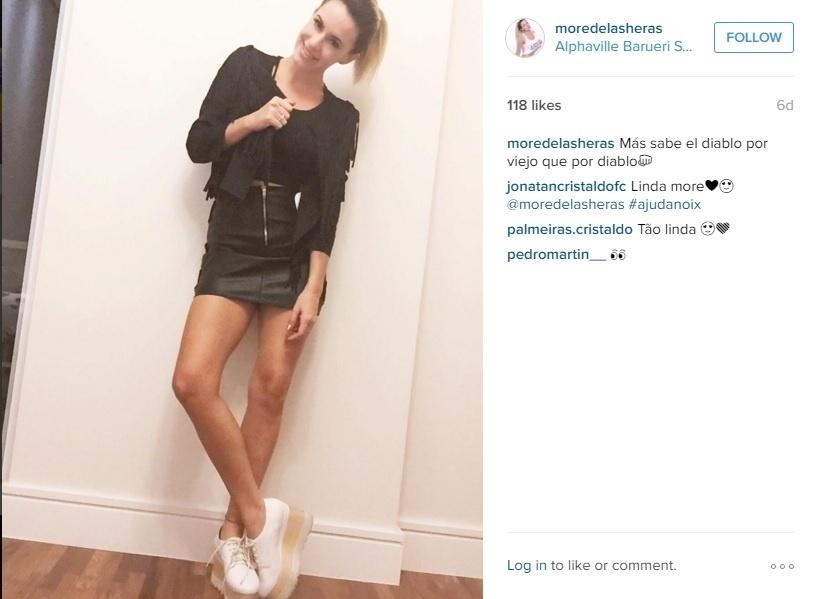 Morella diz que está adaptada a São Paulo. Ela conta que foi bem recebida pelo povo brasileiro