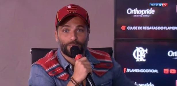 Bruno Gagliasso apresenta patrocínio da base do Flamengo