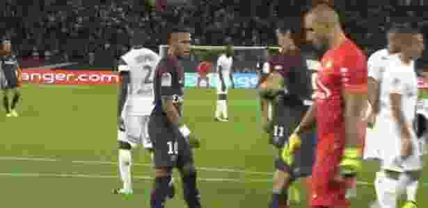 Cavani e Neymar  - Reprodução/Sportv - Reprodução/Sportv