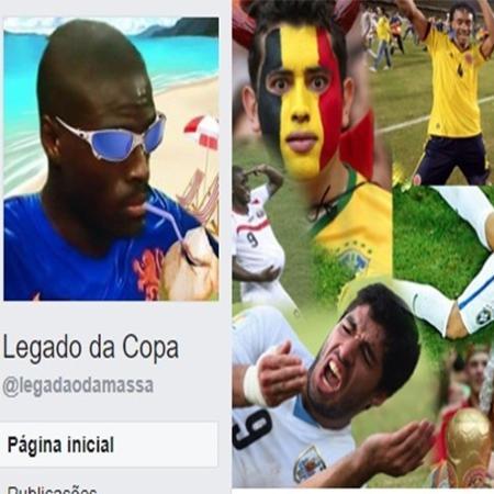 """Página """"Legado da Copa"""" do Facebook - Reprodução"""
