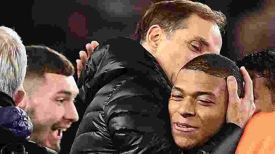 """Técnico ainda destacou atuação de Kylian Mbappé, autor de um gol: """"fez a diferença com sua velocidade"""" - Franck Fife/AFP"""
