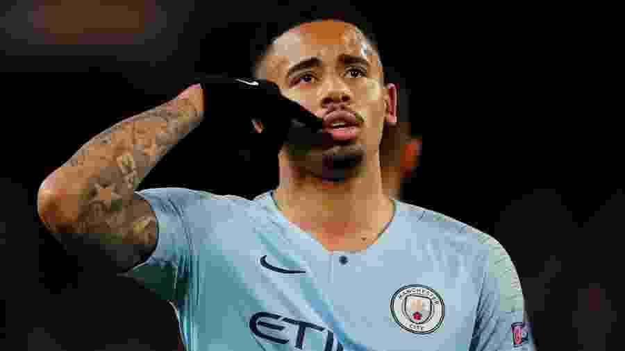Gabriel Jesus comemora gol do City contra o Schalke - Reuters/Lee Smith