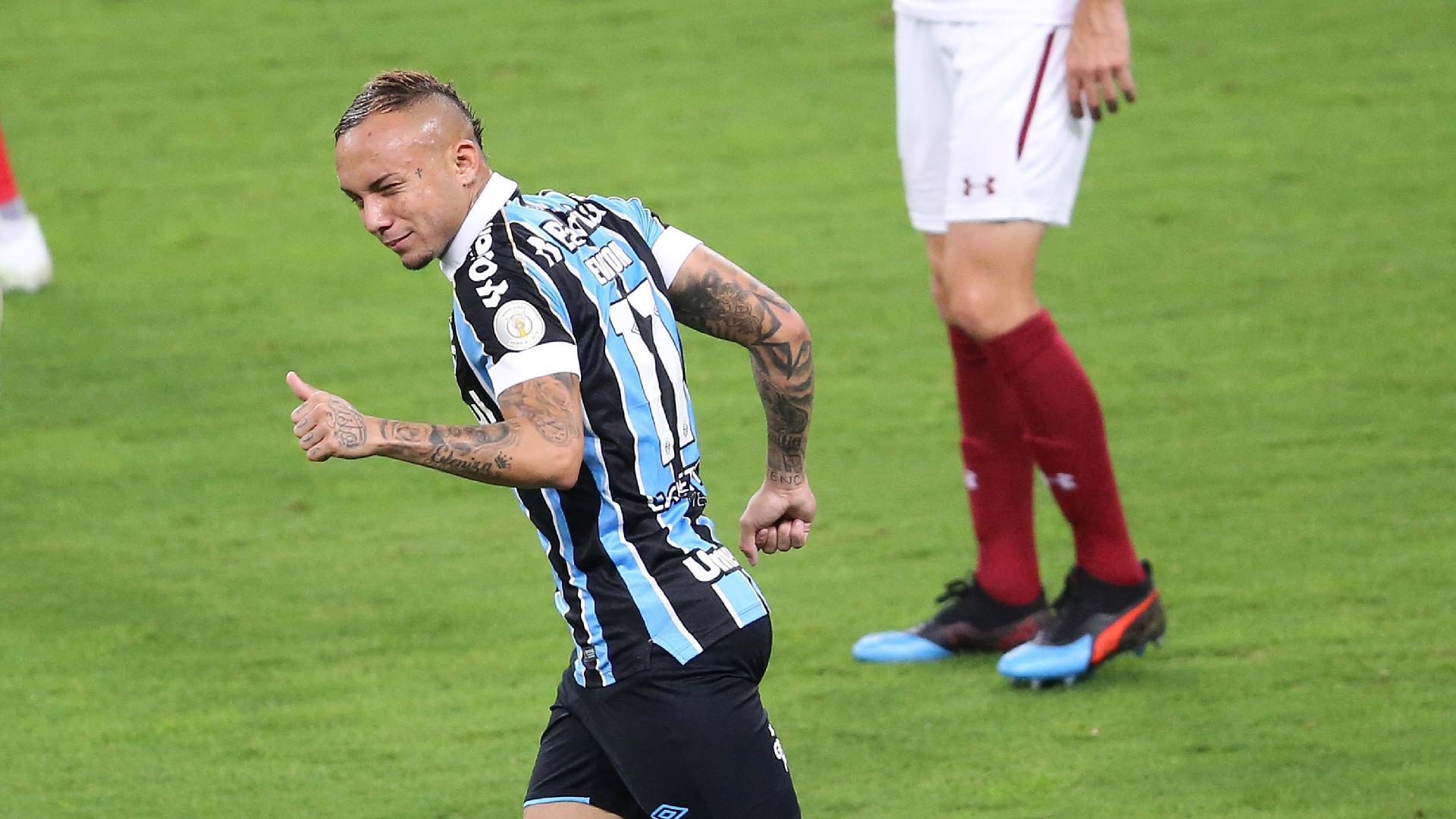 Everton comemoram gol do Grêmio contra o Fluminense