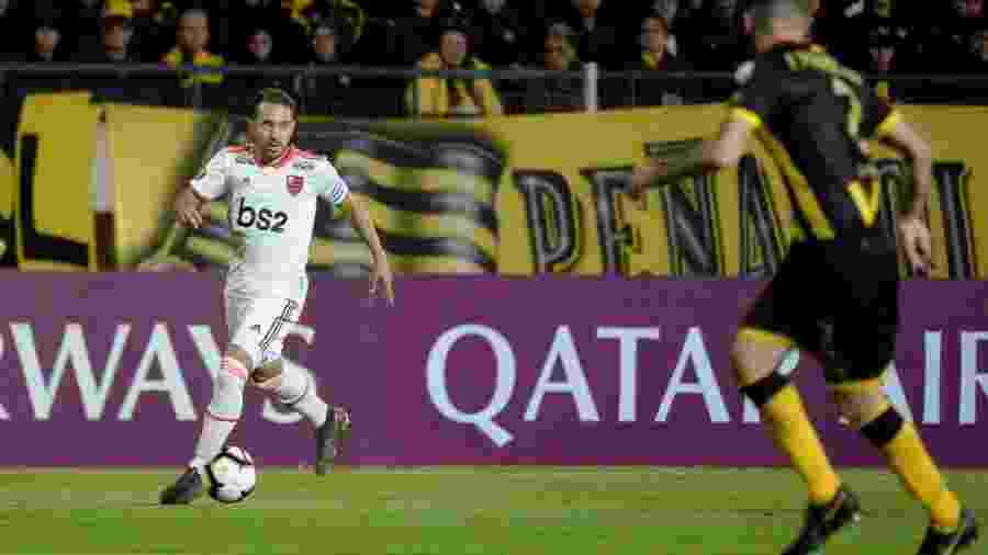 Everton Ribeiro, durante partida entre Flamengo e Peñarol - Alexandre Vidal / Flamengo
