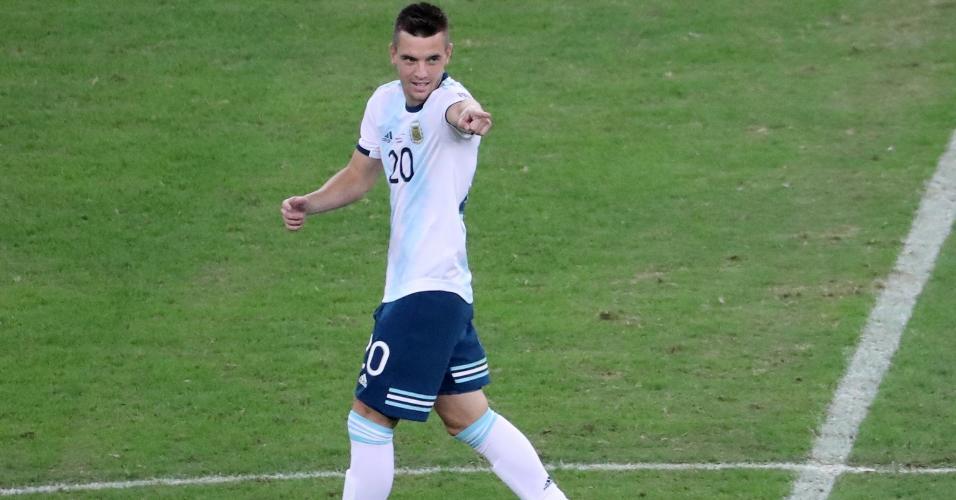 Lo Celso comemora gol da Argentina