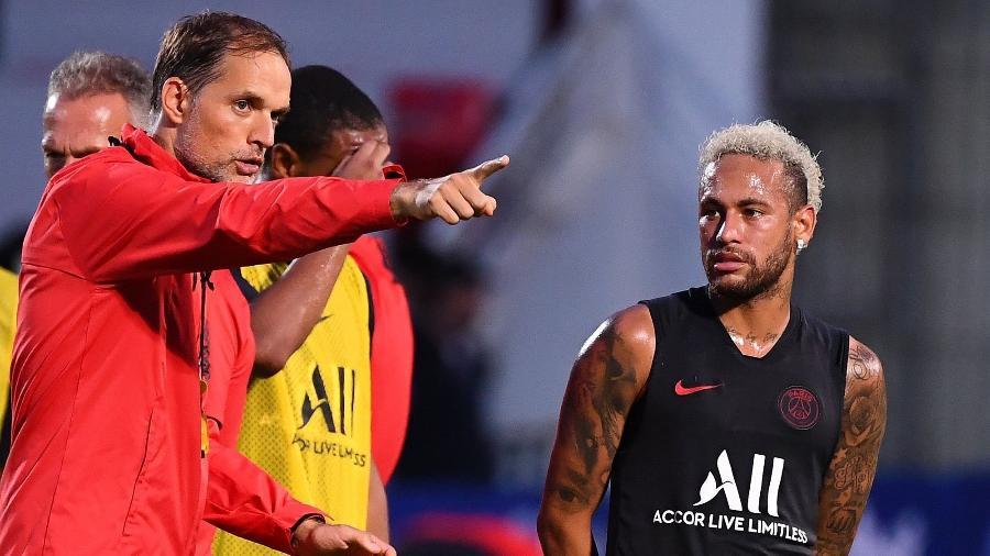 """Técnico do PSG disse que """"coisas estão definidas"""" sobre Neymar e confirmou o brasileiro em campo contra o Strasbourg - FRANCK FIFE / AFP"""