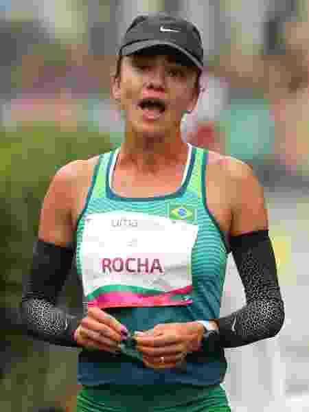 Erica Sena reage à punição sofrida durante a marcha atlética de 20 km - Sergio Moraes/Reuters