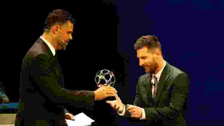 Lionel Messi foi eleito o melhor atacante da última edição da Liga dos Campeões - Eric Gaillard/Reuters
