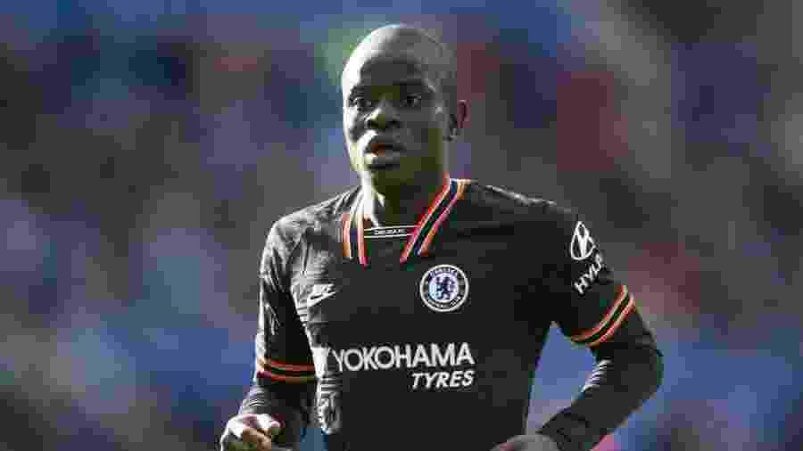 "01.fev.2020 - N""Golo Kanté durante Chelsea x Leicester City pelo Campeonato Inglês - Visionhaus"